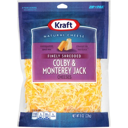 Kraft Finely Shredded Colby & Monterey Jack Cheese, 8 oz