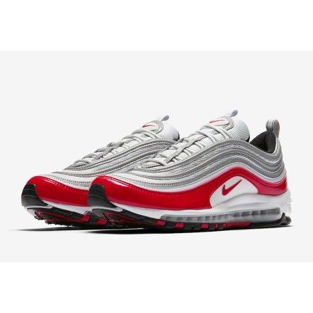 Mens Nike Air Max 97 OG Pure Platinum University Red 921826-009