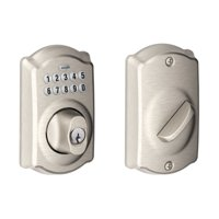 Schlage BE365VCAM619 Satin Nickel Camelot Keypad Deadbolt