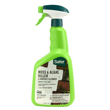 5325-6 Safe 32Ounces 5325 Moss and Algae Killer and Surface Cleaner Ready to Use 32O, 1 Pack Safer