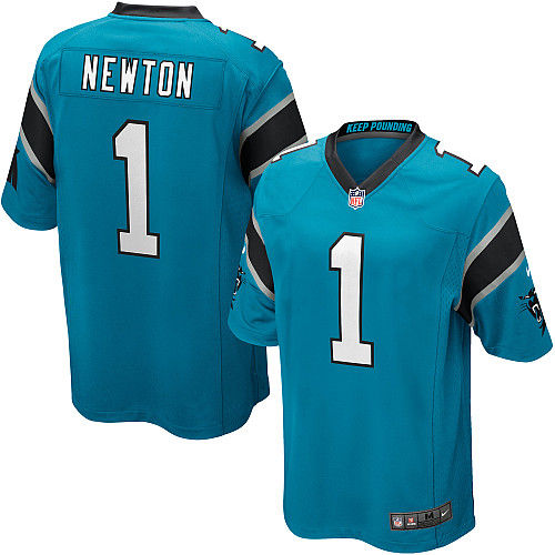 Mens Carolina Panthers Cam Newton Nike Blue Alternate Game Jersey
