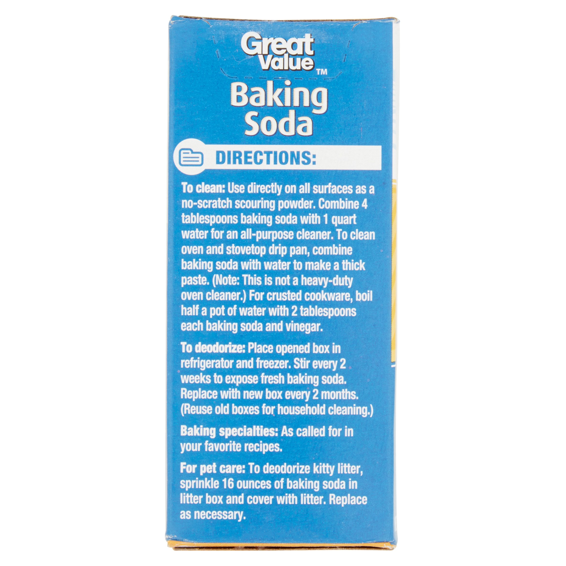 Great Value Baking Soda 16 Oz Best Buy Baking Powder Amp Soda