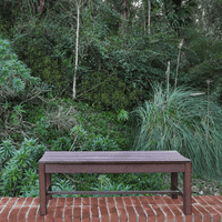 Shine Company 4-ft. Outdoor Backless Plastic Bench - Chateau Brown