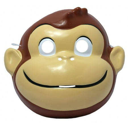 Curious George PVC Mask Child Kids Monkey Book Movie TV Show Cartoon Costume](Watch Halloween Cartoon Movies Online)