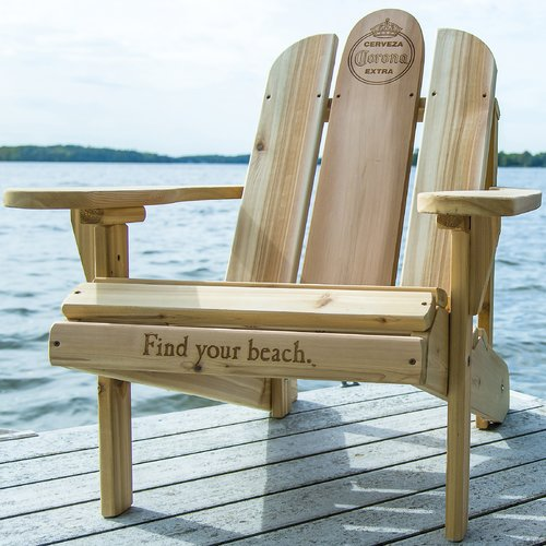 Bon Corona Solid Wood Adirondack Chair