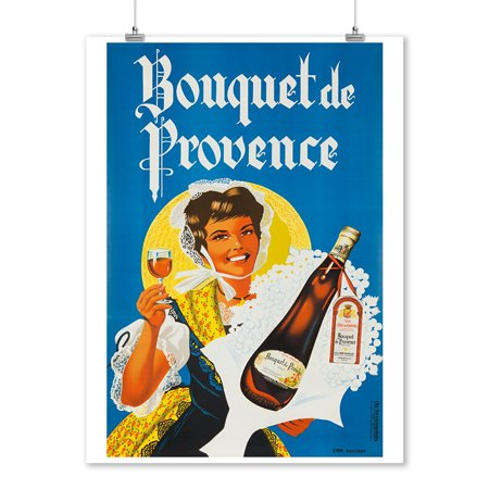 Bouquet de Provence Vintage Poster (artist: Gaillard) France c. 1950 (9x12 Art Print, Wall Decor Travel Poster) (1950 Decor)