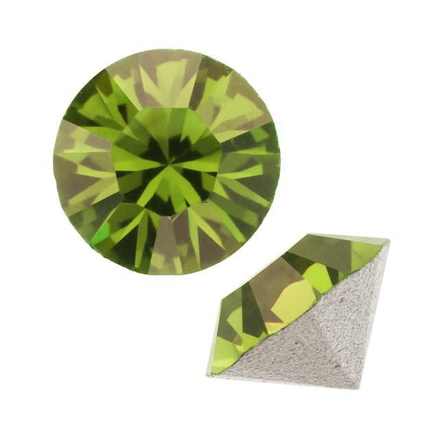 Swarovski Crystal, #1028 Xilion Round Stone Chatons pp10, 50 Pieces, Olivine