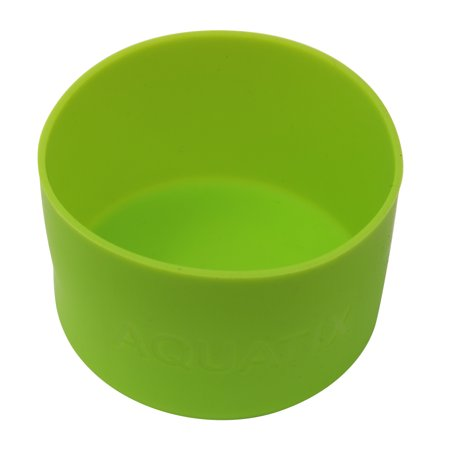 Green - Aquatix Protective Silicone Sleeve for Aquatix 21oz Flip Top Bottles, Anti-Slip Bottom Cover, BPA Free and Dishwasher - Silicon Protective Sleeve