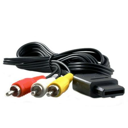 KMD AV Composite Cable For Nintendo GameCube, N64, SNES System