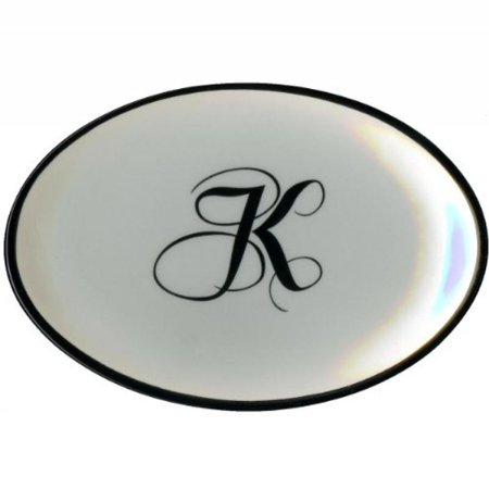 Monogrammed Soap Letter - Letter K - Mud Pie Monogram Initial Coin Holder or Soap Dish 257310 5.5x3.75x.75