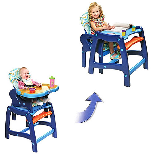 Badger Basket - Envee Baby High Chair with Playtable Conversion, Blue