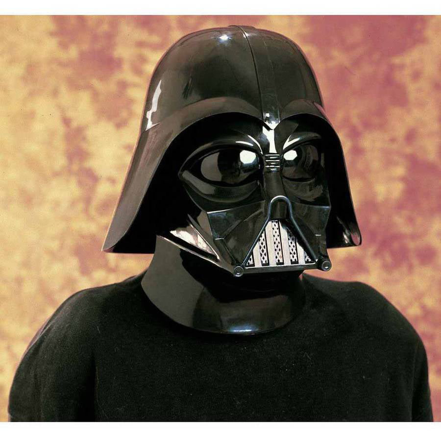 Star Wars Darth Vader Molded Mask Adult Halloween Costume ...