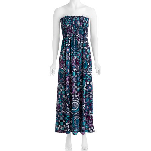 5d32a29697 Faded Glory - Women s Smocked Maxi Dress - Walmart.com
