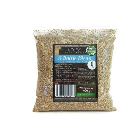 (22027) Eretz Oregon Grown Grass Seed - Wildlife Food Plot Forage Blend (1lb) thumbnail