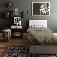 DHP Dean Black Faux Leather Upholstered Queen Bed with Storage, Multiple Options Available