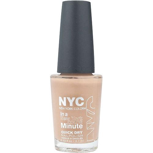 NYC New York Color In a New York Color Minute Quick Dry Nail Polish, Fashion Safari, 0.33 fl oz