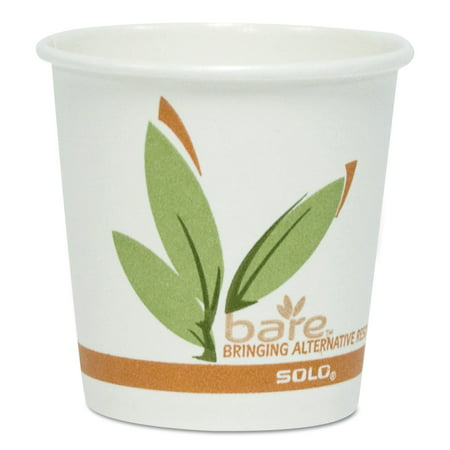 Hot Chick Solo (SOLO Cup Company Bare by Solo Eco-Forward Recycled Content PCF Paper Hot Cups, 12 oz,)