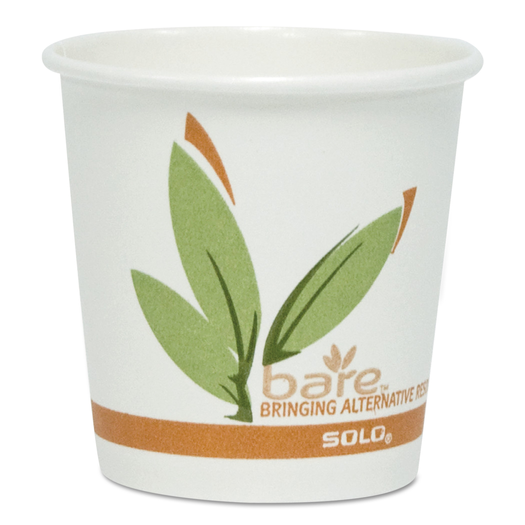 SOLO Cup Company Bare by Solo Eco-Forward Recycled Content PCF Paper Hot Cups, 12 oz, 1,000/Ct