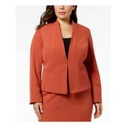 NINE WEST Womens Brown Wear To Work Jacket Plus  Size: 20W