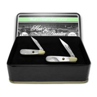 HEN & ROOSTER AND Father Daughter Set Genuine Mother of Pearl 1/500 Barlow Pocket Knife Knives