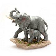Elephant And Baby Figurine