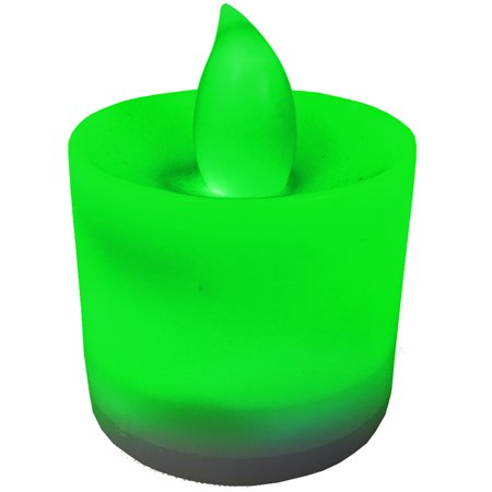 New Green Faux Flame Safe Halloween Pumpkin LED Candle