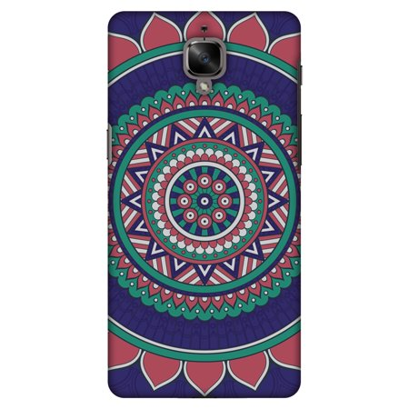 first rate 299f9 52ea6 OnePlus 3T Case, OnePlus 3 Case - Mandala Beauty, Hard Plastic Back Cover.  Slim Profile Cute Printed Designer Snap on Case with Screen Cleaning Kit