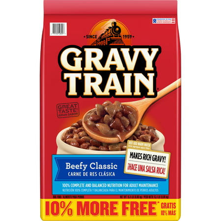 Gravy Train Beefy Classic Dry Dog Food, 15.4-Pound