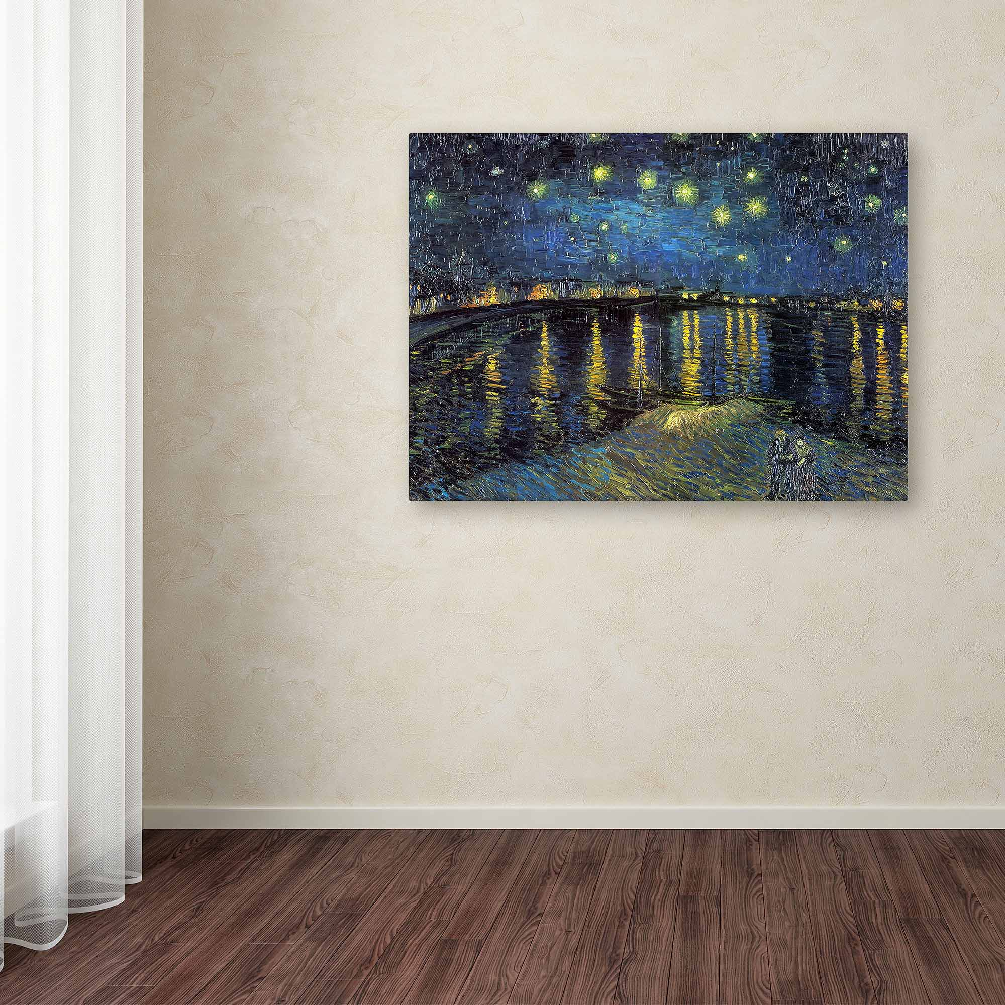 "Trademark Fine Art ""The Starry Night, 1888"" Canvas Wall Art by Vincent van Gogh"