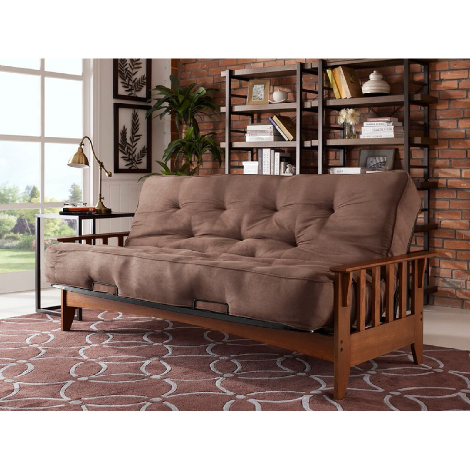 Simmons Seattle Futon Frame with 6 in. Beauty Sleep Mattress