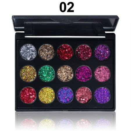 15 Colors Diamond Glitter Matte Eyeshadow Powder Palette Makeup