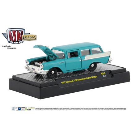 Pontiac Station Wagon (M2 Machines Auto Thentics 1:64 1957 Chevrolet 150 Handyman Station Wagon)