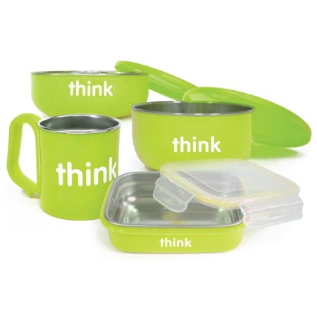 Thinkbaby Feeding Set Green 4 Piece Set