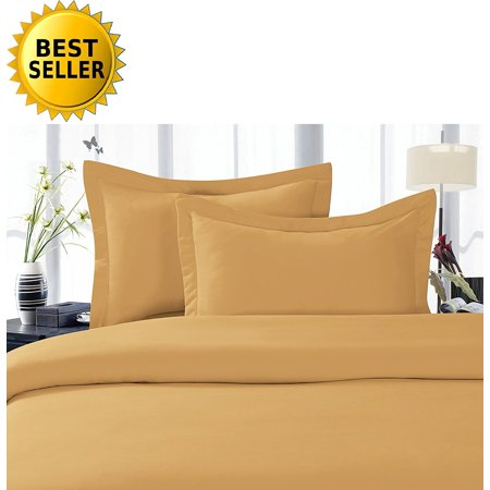 Celine Linen Best, Softest, Coziest Duvet Cover Ever! 1500 Thread Count Egyptian Quality Luxury Super Soft WRINKLE FREE 3-Piece Duvet Cover Set , Full/Queen, Camel-Gold ()