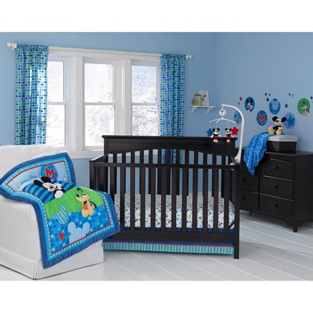 Baby Mickey And Friends Crib Bedding