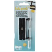 BeadSmith Two-Hole Metal Punch, Makes 1.5 and 2mm Holes