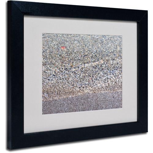 """Trademark Fine Art """"Lakeshore Abstract"""" Matted Framed Art by Kurt Shaffer, Black Frame"""