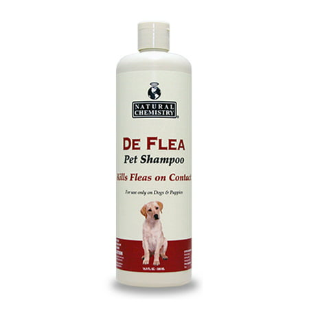 Natural Chemistry De Flea Pet Shampoo for Dogs 16.9oz ()