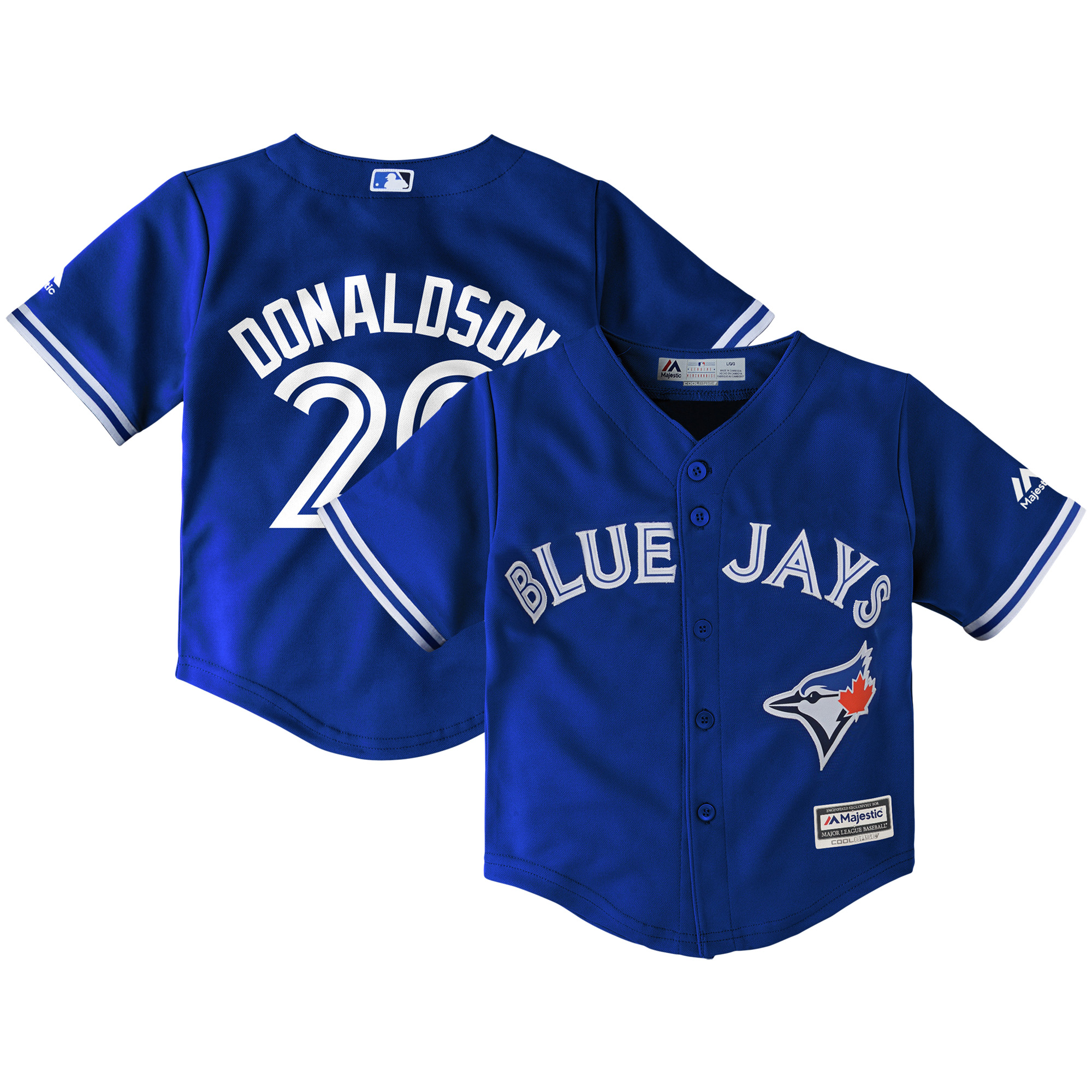 Josh Donaldson Toronto Blue Jays Majestic Toddler Alternate Cool Base Replica Player Jersey - Royal