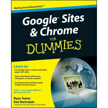 Google Sites   Chrome For Dummies