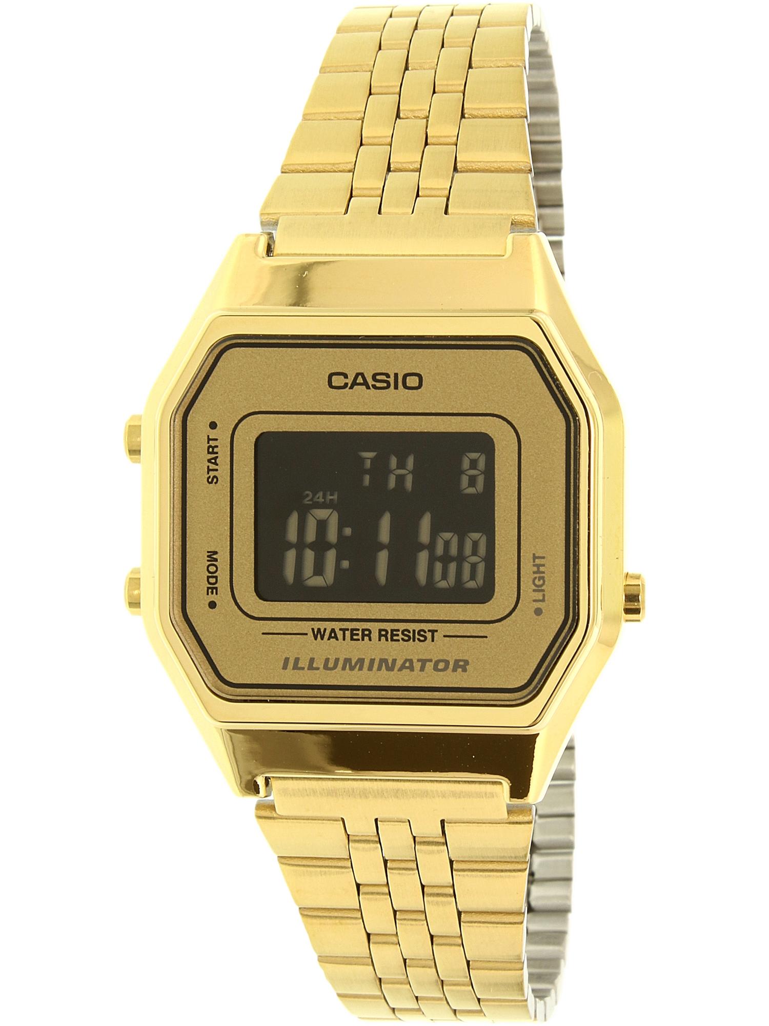 Gold- Tone Digital Retro Ladies' Watch, LA680WGA-9B