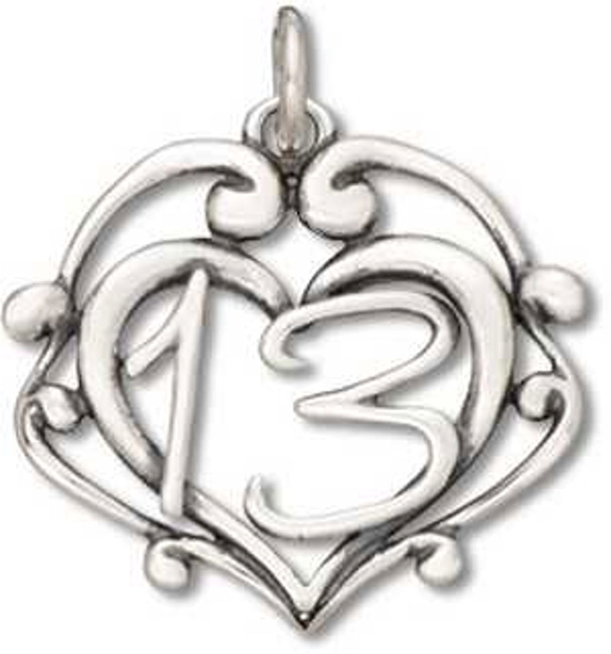 Sterling Silver 7 4.5mm Charm Bracelet With Attached Number Three 3 Charm