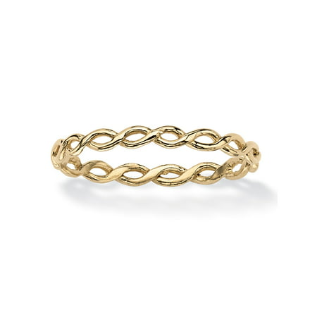- Braided Twist Ring in 10k Yellow Gold