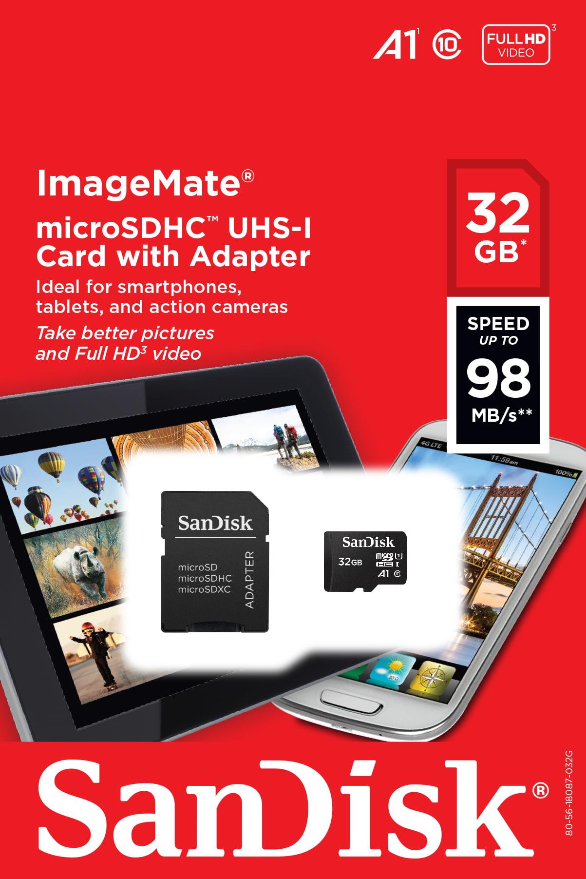 SanDisk ImageMate 32g Cl10 Microsd, Sdsquar-032g-aw6ia