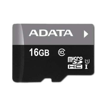Image of ADATA AUSDH16GUICL10-RA1 Premier 16GB micro SDHC USH Class 1 w/ MicroSD Adapter