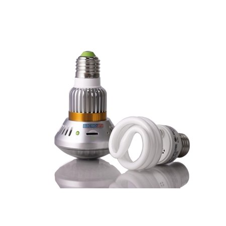 Portable Best Home Security Camera iBulb IR MicroSD Motion Detect