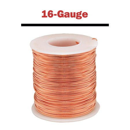 Parawire Copper Wire - 16-Gauge, 127 ft. spool (14guage Copper Wire)