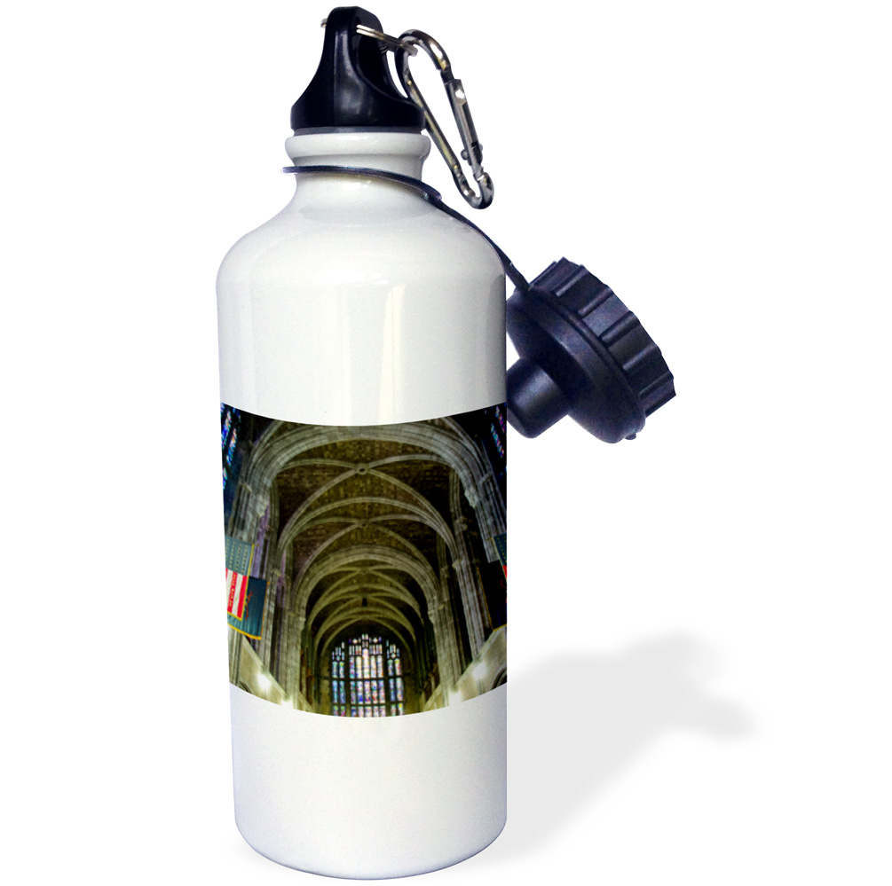 3dRose New York, West Point Academy. Army Military collage, Cadet Chapel., Sports Water Bottle, 21oz