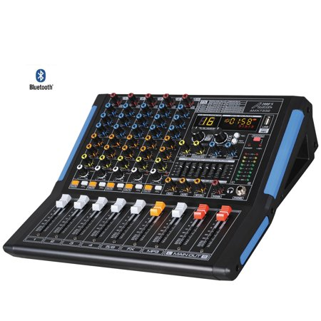 Audio 2000s AMX7332UBT 6-Channel Audio Mixer with USB, Bluetooth and DSP Sound Effects (1 8 Sound Mixer)