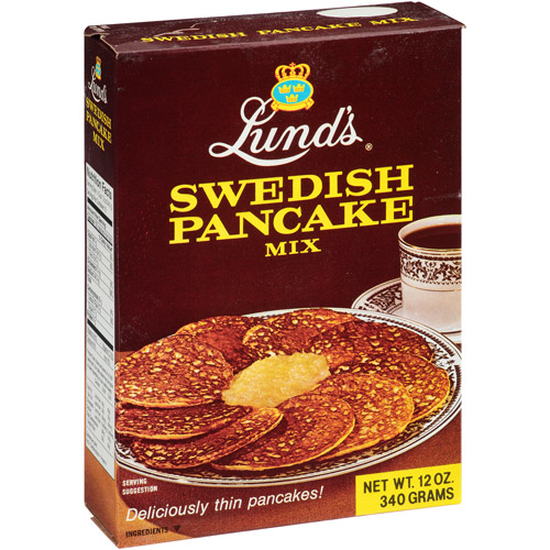 Lund's Swedish Pancake Mix, 12 oz (Pack of 12)